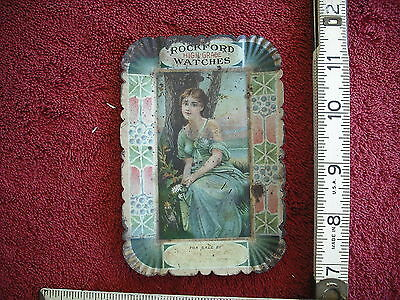 Antique Victorian Age Steel Advertising Change or Mint Tray - Rockford Watches
