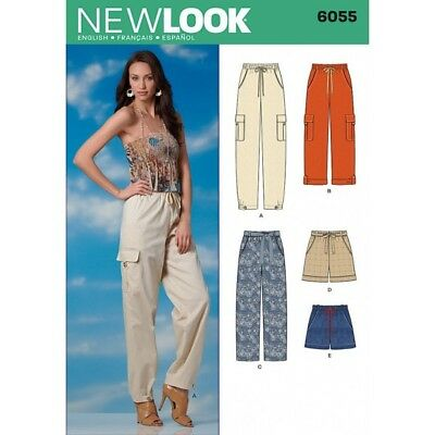 New Look Misses' Trousers & Shorts Sewing Pattern 6055