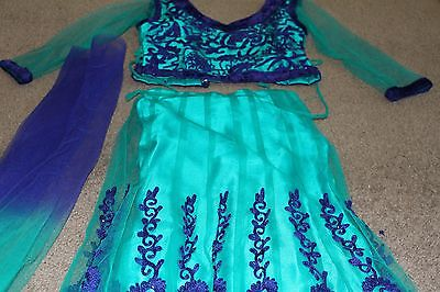 Indian choli dress girls party fancy gorgeous