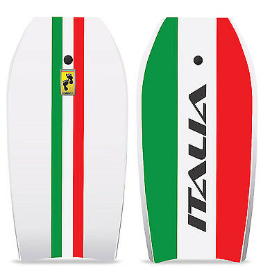"Two Bare Feet Italia SE 42"" Bodyboard with Leash Boogie Board Surf Limited"