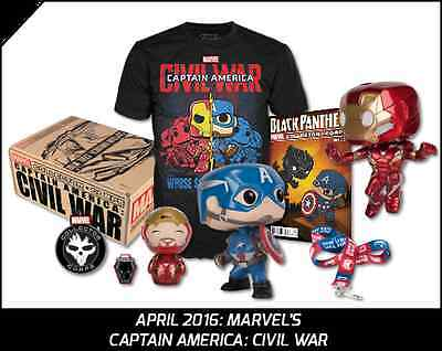 MARVEL Collector Corps Civil War Exclusive Funko POP Iron Man Captain America