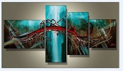 4Pc Modern Abstract Huge Wall Art Oil Painting On Canvas 002