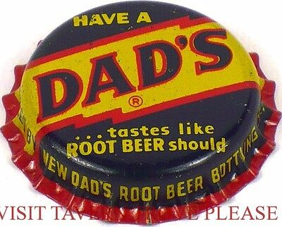 Unused 1950s Have A Dad's Root Beer Soda Cork Crown St Louis Missouri