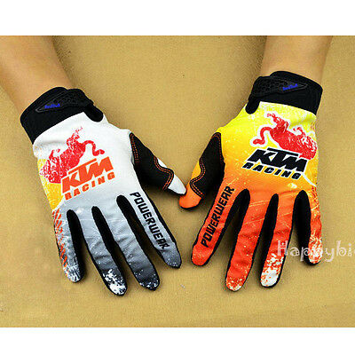 New Mens Racing Gloves Full Finger Cycling Motocross Offroad Mountain Road Bike