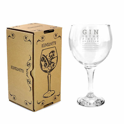 Ginsanity 22oz (645ml) Gin Balloon Glass Cocktail - Gin & Tonic - Eye Exam