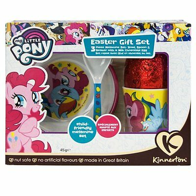 My Little Pony 3 Piece Easter Egg Mealtime Gift Set 45g