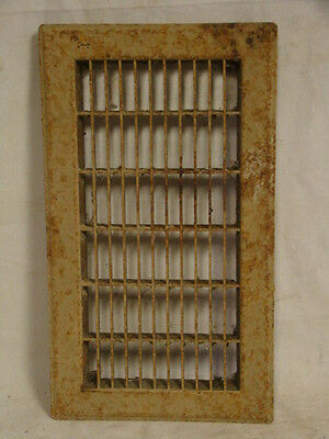Vintage 1920S Iron Heating Grate Cover Rectangular 14 X 8 Register Return