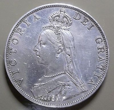 1887 Great Britain Double Florin-Roman I - Total Mintage = 483,000