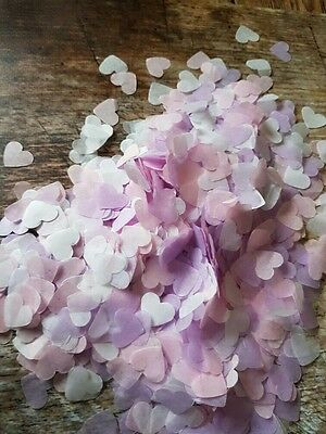 Lavender & Pink & White Hearts Confetti Wedding /throwing/eco. 2 Handfuls