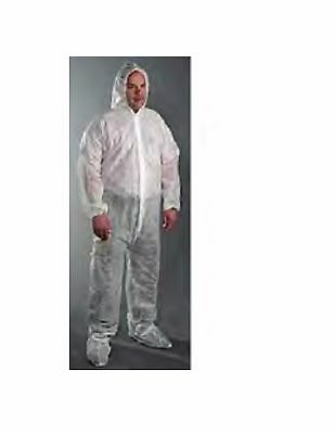 Coverall with Hood and Boot Spunbond Polypropylene several sizes CASE OF 25