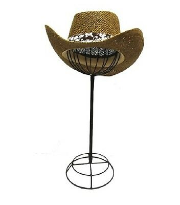 Adjustable Height Tabletop Black Metal Wire Hat/Wig Stand Hats/Wigs Display Ball