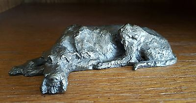 Dannyquest Laying Cold Cast Bronze Irish Wolfhound Statue