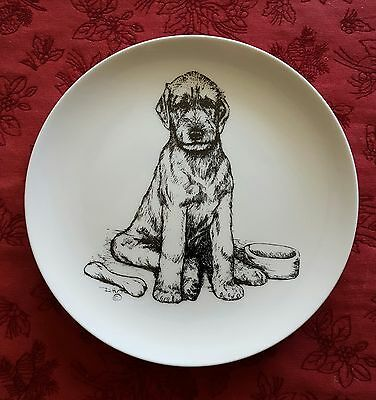 Irish Wolfhound Puppy Plate
