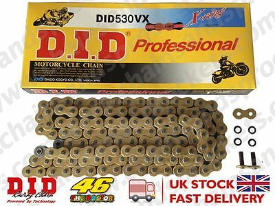 DID Gold Heavy Duty X-Ring Motorcycle Chain 530VXGB Pitch 122 Link