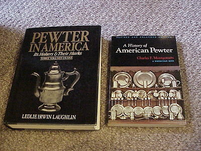 Lot of 2 Pewter in America 3 vols. in 1 & A History of American Pewter Free Ship