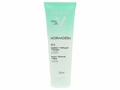 VICHY Normaderm 3-In-1 Scrub Cleanser and Mask 125ml