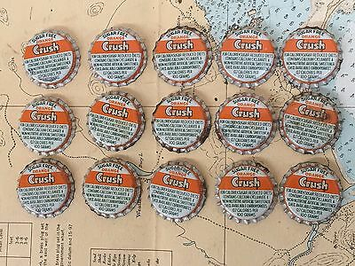 RARE ORANGE CRUSH soda pop SUGAR FREE cork lined unused lot of 15 bottle cap