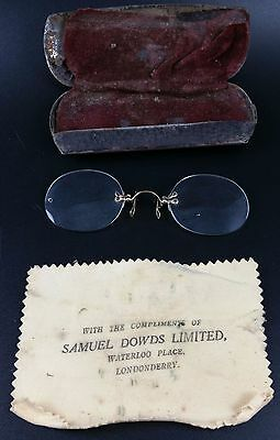 Vintage Gold Filled Pince Nez Spectacles, Marked 1/10, Great Cosplay, Steampunk