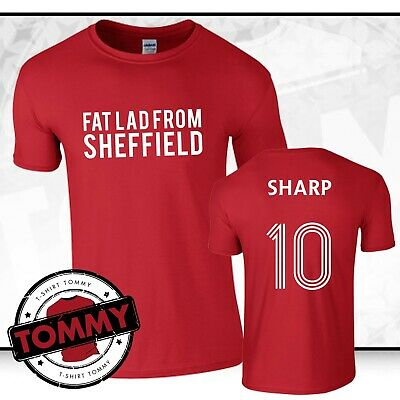 Billy Sharp Fat Lad From Sheffield T-Shirt Blades Sheff Utd tshirt Sheffield Utd