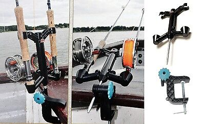 Stonefly Rod Caddie Holder & Clamp Fly/Trout fishing rod holder on bank or boat
