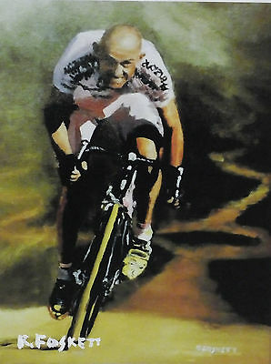 Marco Pantani print on  330gsm Glossy canvas 6X8 inch uv resistant
