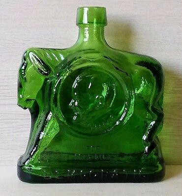 Wheaton Green Glass Bottle Humphrey and Muskie 1968 Democratic Campaign