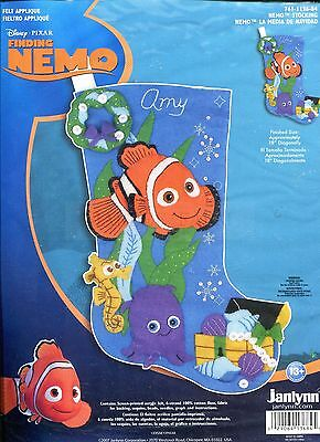 Disney Pixar FINDING NEMO Janlynn Felt Applique Stocking Kit 761-1136-84