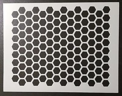 "Honeycomb Honey Comb Pattern 11"" x 8.5"" Custom Stencil FAST FREE SHIPPING"