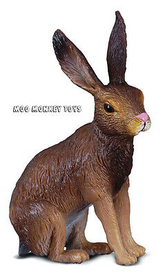 BROWN HARE CollectA # 88012 Woodland Animal Collectible Toy Replica Rabbit NWT