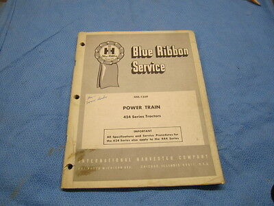 IH Model 424 Series Tractor power Train Service  Manual