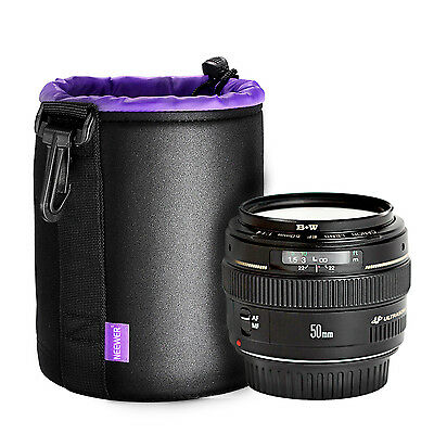 Neewer Small Lens Pouch Bag(Purple Interior)