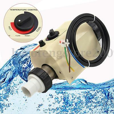 2KW 220V Swimming Pool & SPA Bath Hot Tub Water Electric Heating Thermostat New