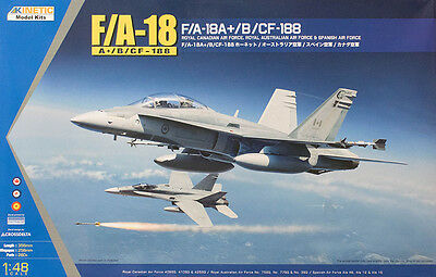 Kinetic 1/48 F/A-18A+/B/CF-188 Hornet RAAF Plastic Model Kit Brand New