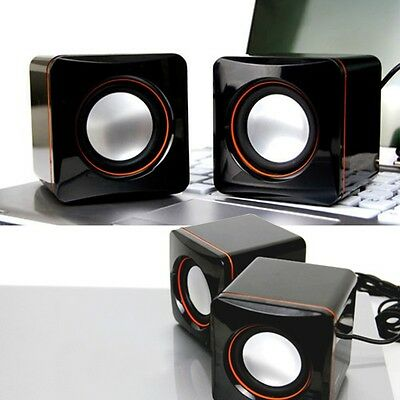 1Pairs Portable USB Speakers Sound Music For PC Computer Laptop Notebook