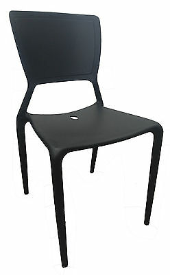 Restaurant CHAIR Replica Viento Stackable Cafe Dining Chairs Wasabi Black