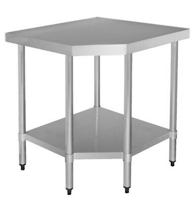 FOOD GRADE STAINLESS STEEL SS 304 CORNER BENCH FLAT TOP TABLE 610x900x900 E0
