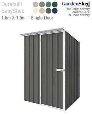 EasyShed 1.5m x 1.5m - Skillion Garden Shed - FREE Anchor & Skylight (Aug only)