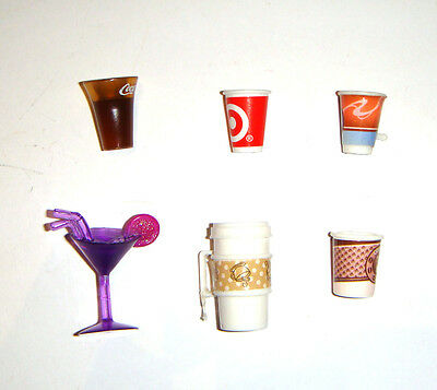 Barbie Doll Sized Accessories Coffee, Drinks, Cola For Diorama ac001