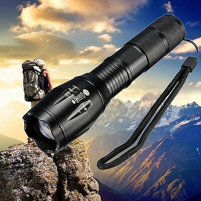 12000Lm Q5   LED Rechargeable Zoomable Flashlight Torch + 18650 Battery Bright
