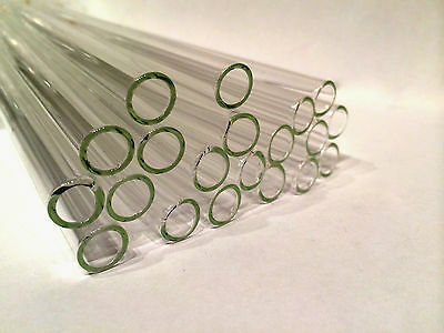 "6"" Clear Glass Blowing Pyrex 5 Pieces 10mm Tubing Tubes 10 mm OD 1mm Thick"
