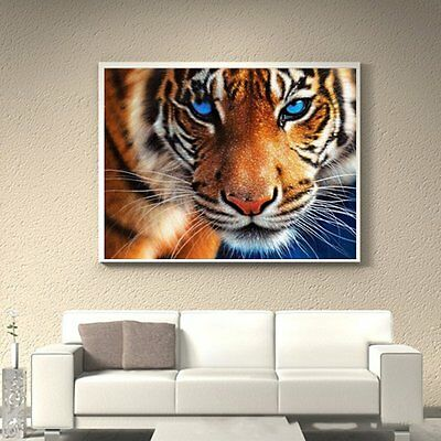 5D Diamond Tiger Painting Cross Stitch Craft Embroidery Home Decor 30x35cm GT@@