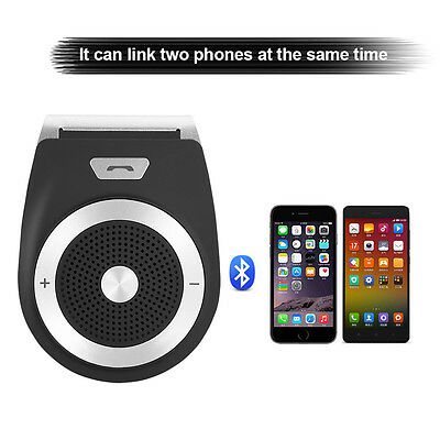 Wireless Bluetooth Handsfree Car Kit Visor Clip Speaker Phone for iPhone Andriod