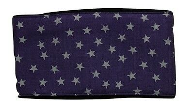dog belly band purple white stars fabric male stud boys washable reusable puppy