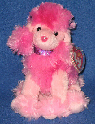 TY OOH-LA-LA the POODLE BEANIE BABY - MINT with MINT TAGS (PRICE STICKER)