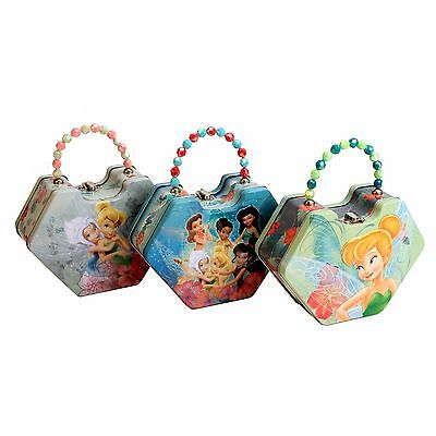 Disney Tinkerbell Kid's Handbag / Storage Tin with Beaded Handle in 3 Designs