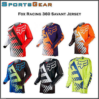 Motorcross Fox Racing 360 Savant Jersey Motorbike Dirt Bike Offroad Cycling MX
