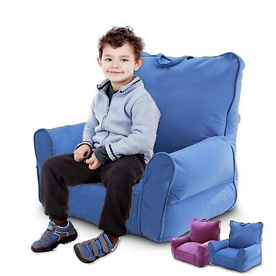 Kids Bean Bag Sofa Beanbag Cover Children Reading Relaxing Sofa Chair Bed Blue