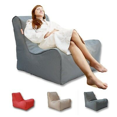 Bean Bag Lounge Chair Beanbag Cover Reading Relaxing Sofa Seat Lounge Bed - Grey