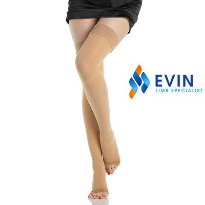 [2 PAIRS] Medical Graduated Compression Stockings [Thigh High] - 15-20mmHg