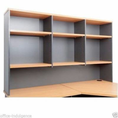 Rapid Worker Overhead Hutch Adjustable Shelves 3 Sizes 2 Colours CH12 CH15 CH18